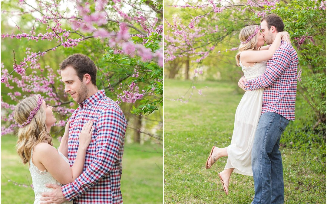 Spring Engagement Session on a Romantic Family Farm and Talon Winery in Lexington, KY