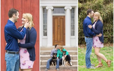 Early Spring Engagement Session at Waveland in Lexington, KY