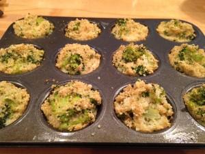 Broccoli & Quinoa Cheddar Muffins