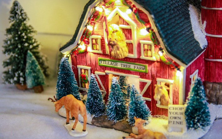 our christmas village expands by one new addition each year my husband loves the st nicholas square collection from kohls