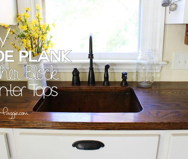 Diy Wide Plank Butcher Block Counter Tops