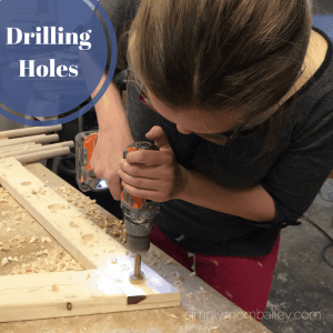 DIY Pikler Triangle - Drilling Holes