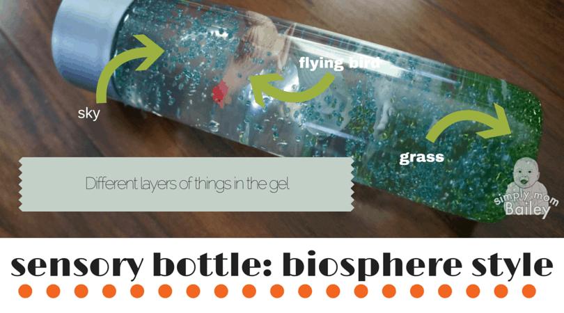 Sensory Bottle: Biosphere style