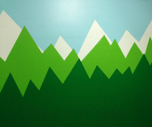 toddler room mountain walls
