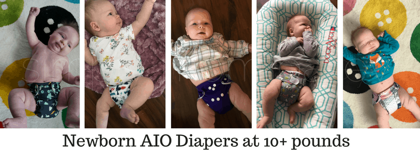 newborn AIO cloth diapers at 10lbs