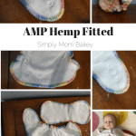 Fitted Diapers: AMP Hemp Fitted Diaper, Size Small