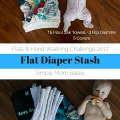 Flat Diaper Stash for 2