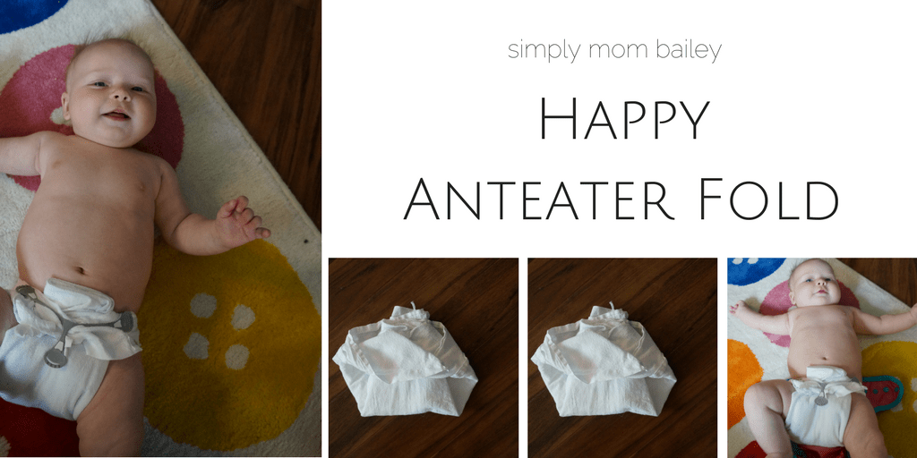 Happy Anteater Fold - Flat Diaper - Folding Diapers - Cloth Diapers