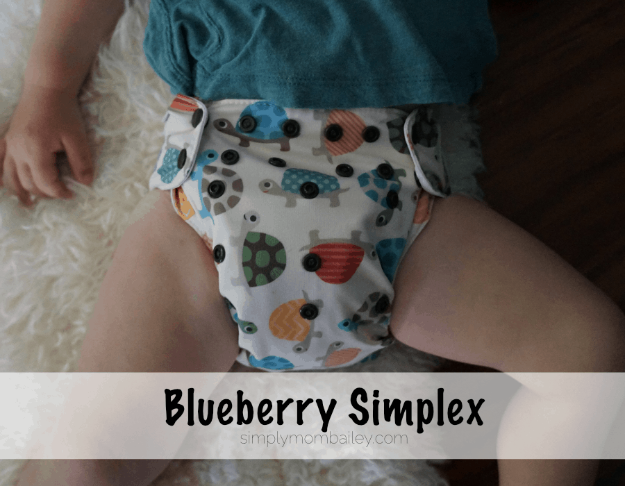 Cloth Diapers at 30 pounds Blueberry Simplex