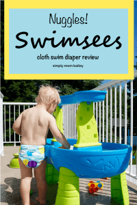 Nuggles Swimsees Cloth Diaper Review Swim Diaper