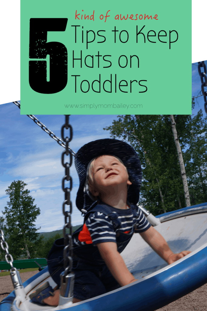 5 Tips to Keep Hats on Toddlers - Toddler Sunhat - Twinklebelle Gro-with-me sunhat