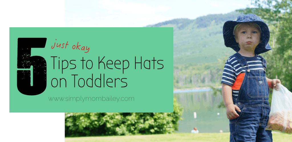 5 Tips to Keep Hats on Toddlers - Twinklebelle Gro-with-me sunhat review