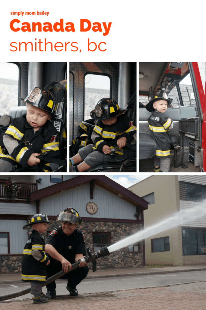 Smithers Canada Day Toddler Firefighter