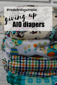 giving up all in one cloth diapers