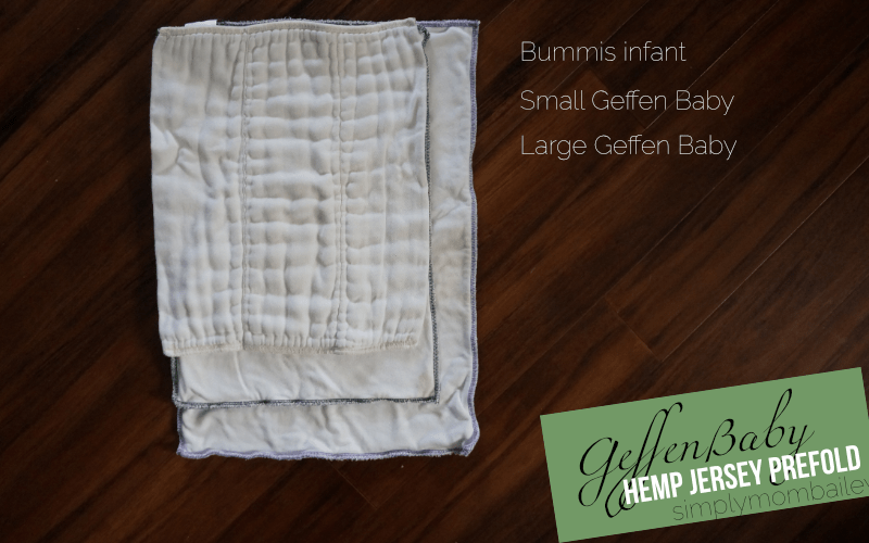 Size Comparison of Geffen Baby Hemp Jersey Prefold - Prefold Cloth Diapers - Bummi's - Made in the USA - organic cloth diaper