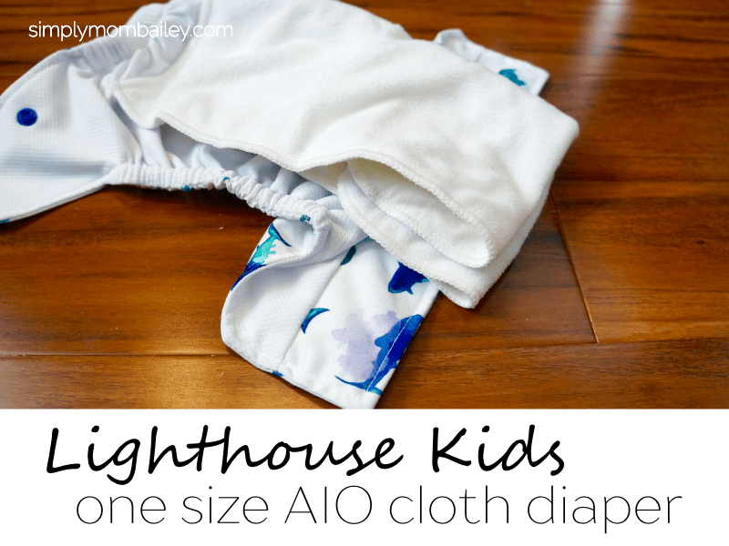 Lighthouse Kids AIO Cloth Diaper - How to fold a lighthouse kids diaper - cloth diaper - all in one cloth diaper - easy diaper - how to use