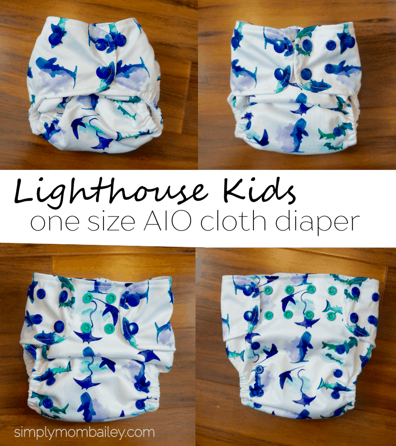 Lighthouse Kids OS AIO Cloth Diaper - #clothdiaper - #diaper - one size - all in one - easy to use - affordable