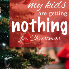 The Kids are Getting NOTHING for Christmas