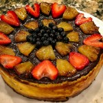 New York Style Cheesecake with fresh Fruit.