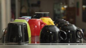 Just oddities put mugs upside down in cabinet