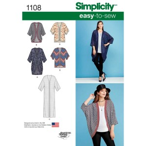 1108 simplicity tops vests pattern 1108 a envelope