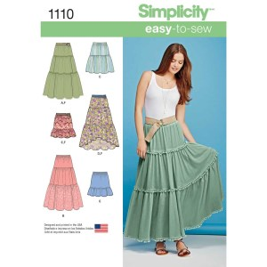 1110 simplicity skirts pants pattern 1110 a envelope
