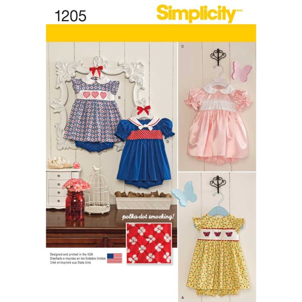 1205 simplicity babies toddlers pattern 1205 a envelope