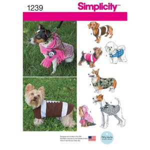 1239 simplicity pet clothing pattern 1239 a envelope