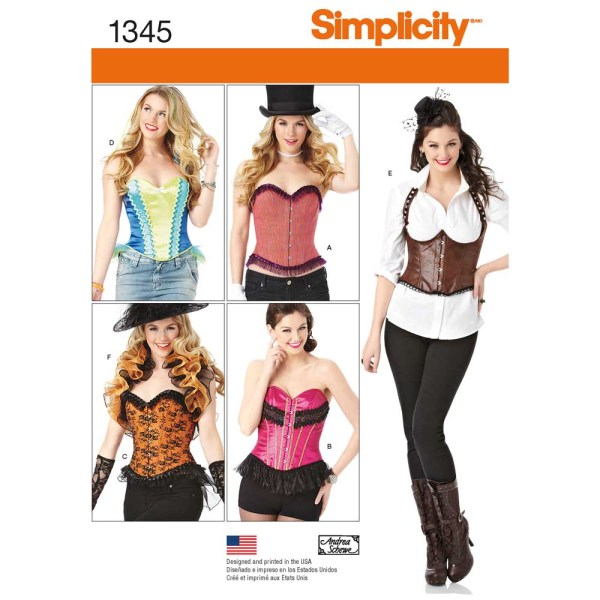 1345 simplicity costumes pattern 1345 a envelope