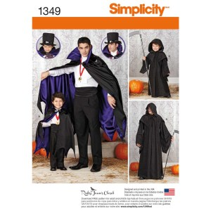 1349 simplicity costumes pattern 1349 a envelope