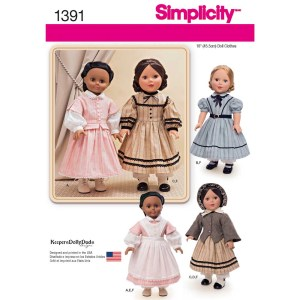 1391 simplicity doll clothing pattern 1391 a envelope