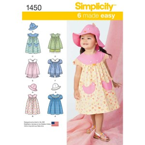 1450 simplicity babies toddlers pattern 1450 a envelope