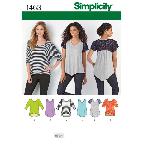 1463 simplicity tops vests pattern 1463 a envelope