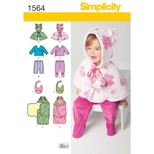 1564 simplicity babies toddlers pattern 1564 a envelope