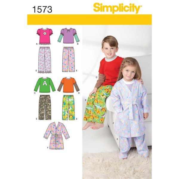 1573 simplicity babies toddlers pattern 1573 a envelope