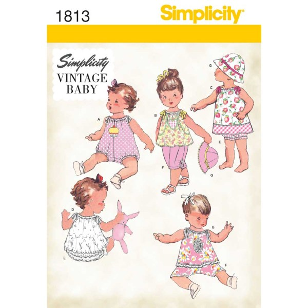 1813 simplicity babies toddlers pattern 1813 a envelope