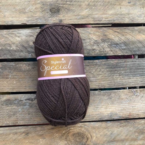 24 double knit dark brown 1