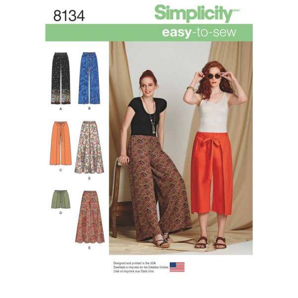 8134 simplicity skirts pants pattern 8134 a envelope