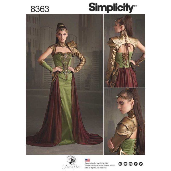 8363 simplicity fantasy costume pattern 8363 a envelope