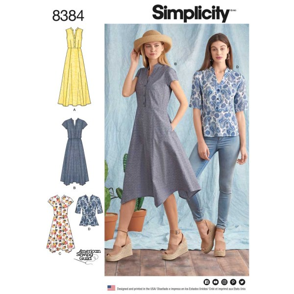 8384 simplicity shirt dress pattern 8384 a envelope