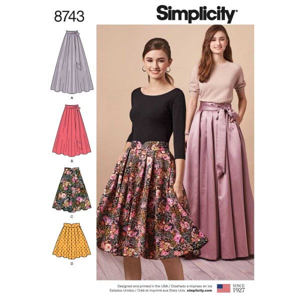 8743 simplicity special occasion pleated skirt pattern 8743 a envelope