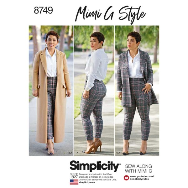 8749 simplicity mimi g wool coat pants pattern 8749 a envelope