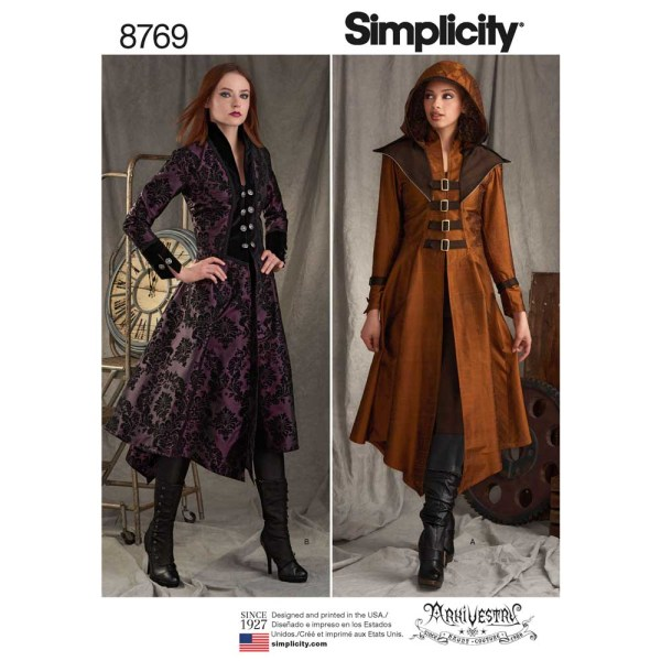 8769 simplicity military cosplay costumes pattern 8769 a envelope