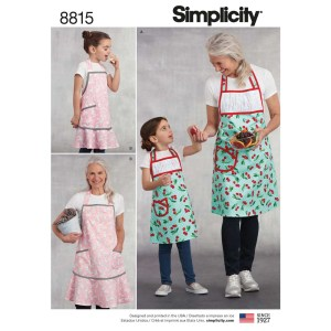 8815 simplicity mother daughter apron pattern 8815 a envelope