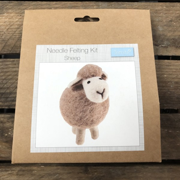 Needle felting kit sheep 1