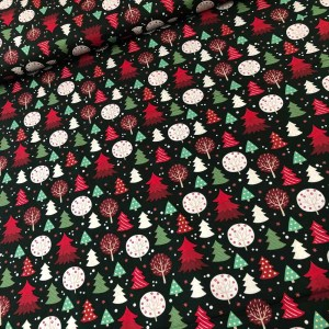 nordic christmas cotton fabric