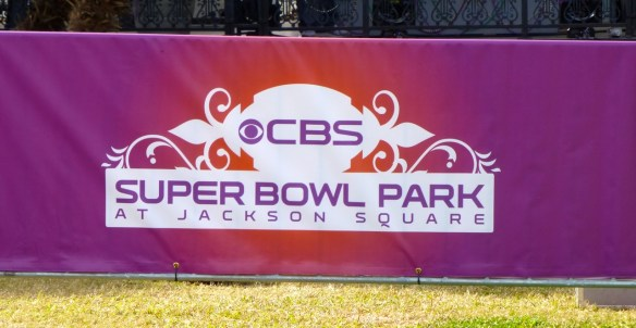 CBS Sign, Superbowl, Jackson Park