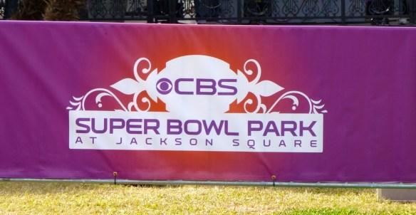 CBS Sign, Superbowl, Jackson Park