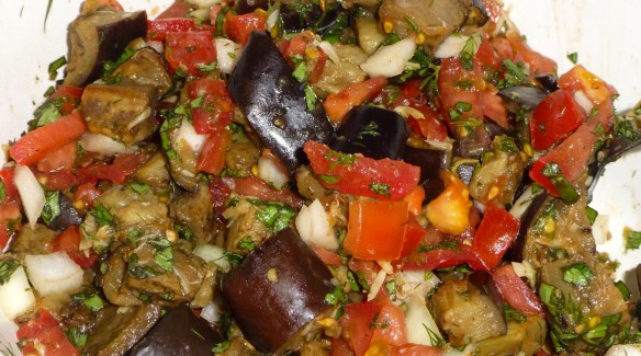 Roasted Eggplant and Garlic Salad