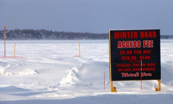 Winter Road Sign, Gull Lake